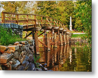 Fall Foliage Over The North Bridge Metal Print by Jeff Folger