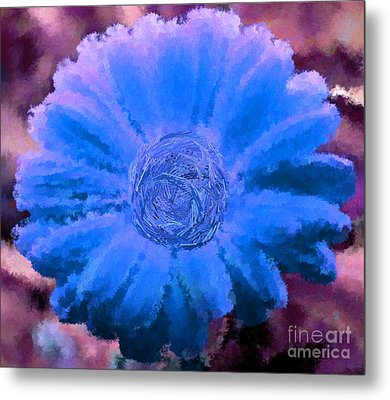 Fall For Me Purple Blue Metal Print by Holley Jacobs