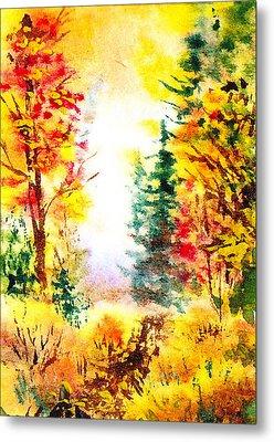 Fall Forest Metal Print by Irina Sztukowski