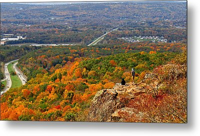 Fall From Castle Craig Metal Print by Stephen Melcher