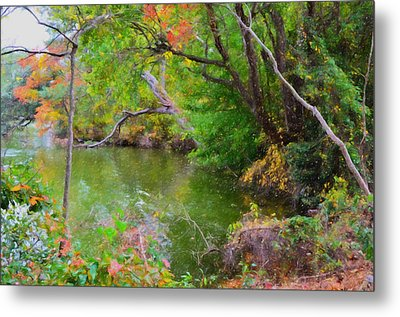 Fall Landscape Around The Lake 6 Metal Print by Lanjee Chee