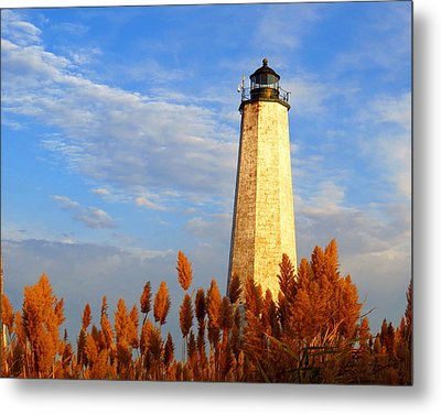 Fall Morning At Lighthouse Point Metal Print by Stephen Melcher