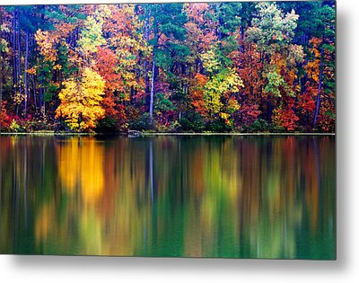 Fall Reflections Metal Print by Tony  Colvin