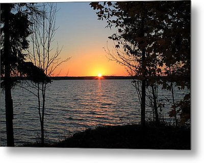 Fall Sunset At Long Lake Metal Print by Rhonda Humphreys