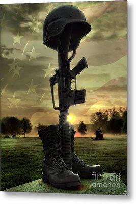 Fallen Soldiers Memorial Metal Print by September  Stone