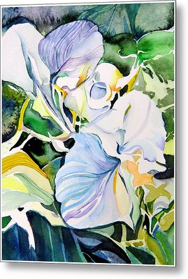 Falling Orchids Metal Print by Mindy Newman