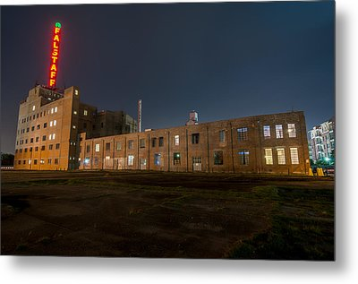 Falstaff Brewery Metal Print by Andy Crawford