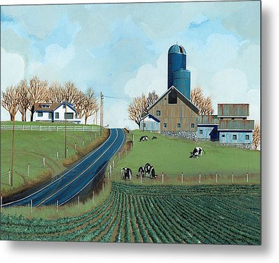 Family Dairy Metal Print by John Wyckoff