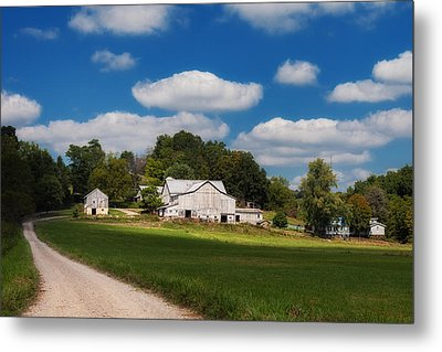 Family Farm Metal Print by Tom Mc Nemar