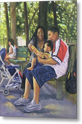 Family In The Park Metal Print by Colin Bootman