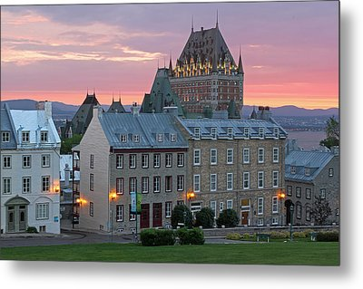 Famous Chateau Frontenac In Quebec City Metal Print by Juergen Roth