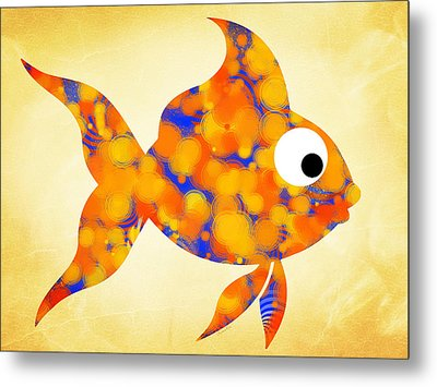Fancy Goldfish Metal Print by Christina Rollo