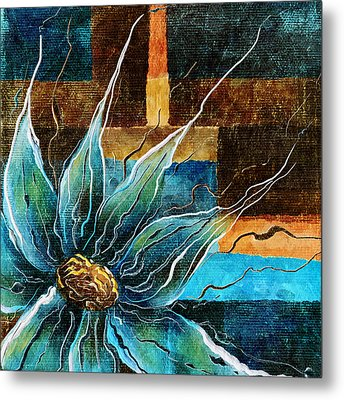 Fantasy Floral Abstract Metal Print by Brenda Bryant