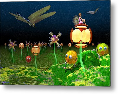 Fantasy Garden Metal Print by Carol and Mike Werner