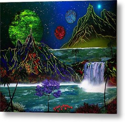Fantasy Planets Metal Print by Michael Rucker