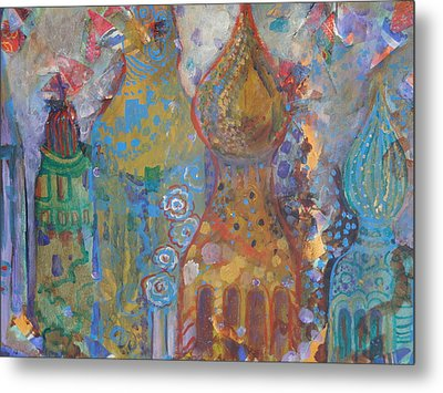 Fantasy Square Metal Print by Norma Malerich