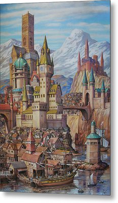Fantasy World Metal Print by Henry David Potwin