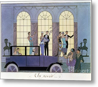 Farewell Metal Print by Georges Barbier