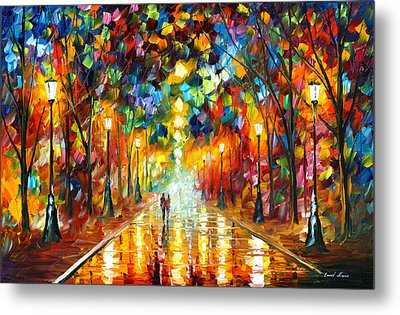 Farewell To Anger Metal Print by Leonid Afremov