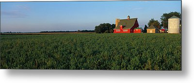 Farm Fields Stelle Il Usa Metal Print by Panoramic Images