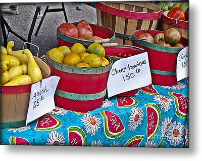 Farm Fresh Produce At The Farmers Market Metal Print by JW Hanley