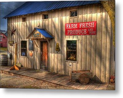 Farm Fresh Produce Metal Print by Mel Steinhauer