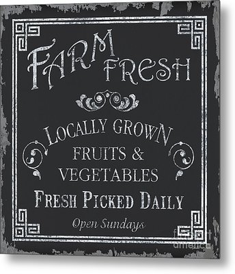 Farm Fresh Sign Metal Print by Debbie DeWitt