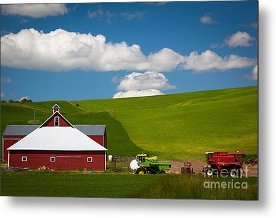 Farm Machinery Metal Print by Inge Johnsson