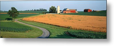 Farm Nr Mountville Lancaster Co Pa Usa Metal Print by Panoramic Images