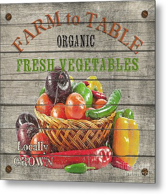 Farm To Table Vegetables-jp2632 Metal Print by Jean Plout
