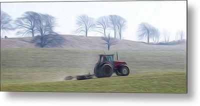 Farm Tractor Metal Print by Stefan Petrovici