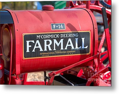 Farmall F-14 Tractor I Metal Print by Clarence Holmes