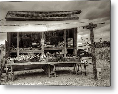 Farmstand Metal Print by William Wetmore