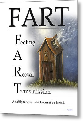 Fart Buseyism By Gary Busey Metal Print by Buseyisms Inc Gary Busey