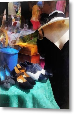 Fashion - Clothing For Sale At Flea Market Metal Print by Susan Savad