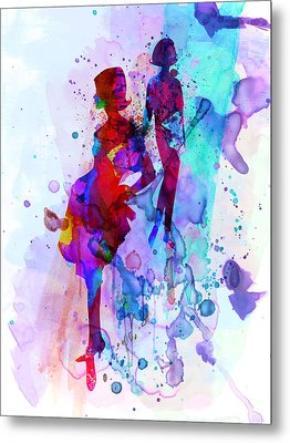 Fashion Models 5 Metal Print by Naxart Studio