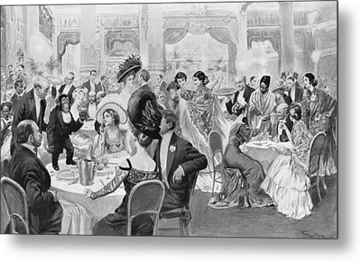 Fashionable Suppers Metal Print by Georges Bertin Scott