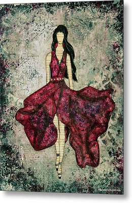 Fashionista Mixed Media Painting By Janelle Nichol Metal Print by Janelle Nichol