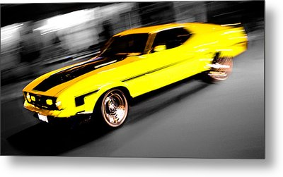 Fast Ford Mustang Mach 1 Metal Print by Phil 'motography' Clark