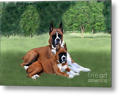 Father And Daughter Metal Print by Linda Gleason Ritchie