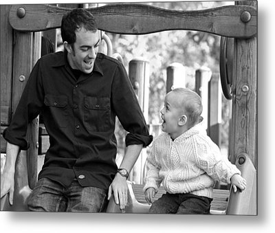 Father And Son II Metal Print by Lisa Phillips