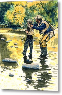 Father And Son Metal Print by John D Benson