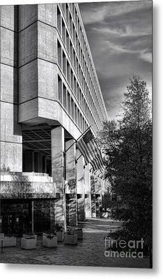 Fbi Building Modern Fortress Metal Print by Olivier Le Queinec