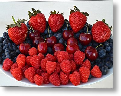 Feast Of Fruit Metal Print by Frozen in Time Fine Art Photography