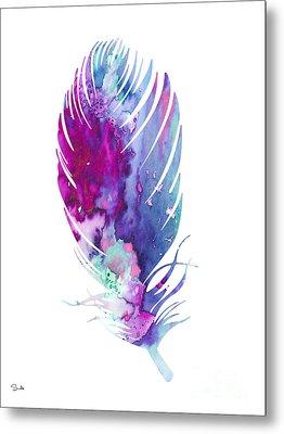 Feather 6 Metal Print by Luke and Slavi
