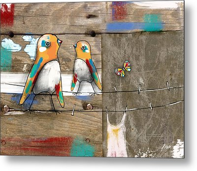 Feathered Friends Metal Print by Karin Taylor