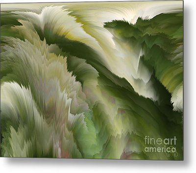 Feathered Hills And Valleys Metal Print by Patricia Kay