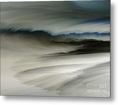 Feathered Seascape Metal Print by Patricia Kay