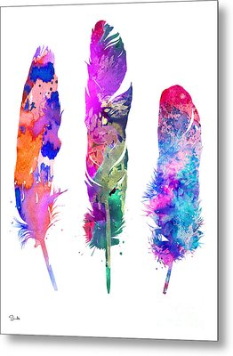 Feathers 3 Metal Print by Luke and Slavi