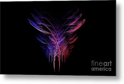 Feathers In Motion Metal Print by Amanda Collins